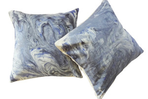 marbleized pillow collaboration