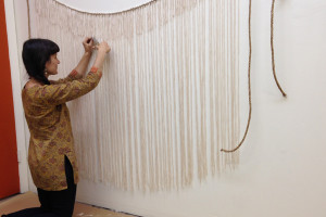 dip-dyed wall hangings for ella moss