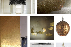 inspiration board for a chandelier