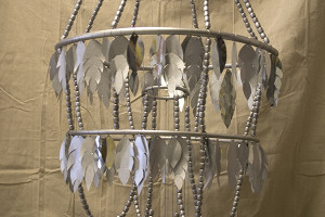 silver feather chandelier