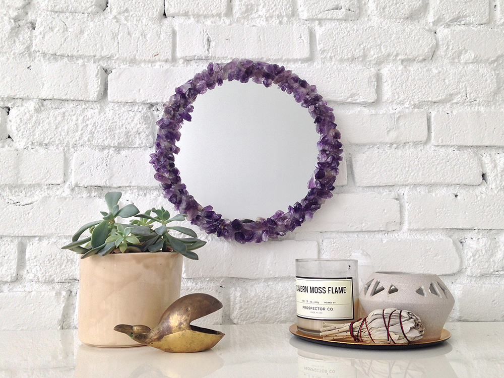 Amethyst Crystal Mirror for Designlovefest | Bramble Workshop