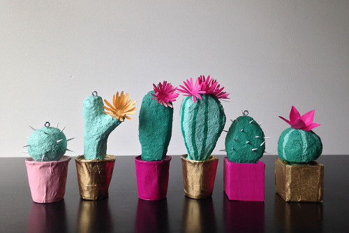 Paper cacti for Hello!Lucky | Bramble Workshop