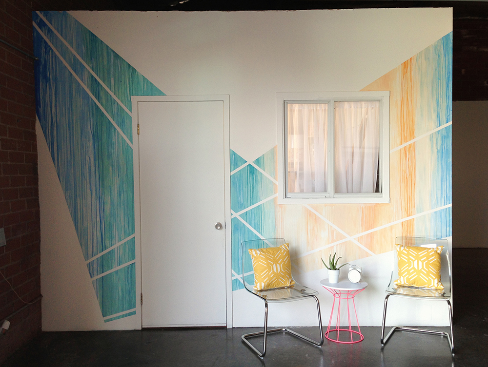 Flock Studios Watercolor Mural | Bramble Workshop