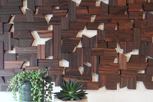 wood installation for a portland home