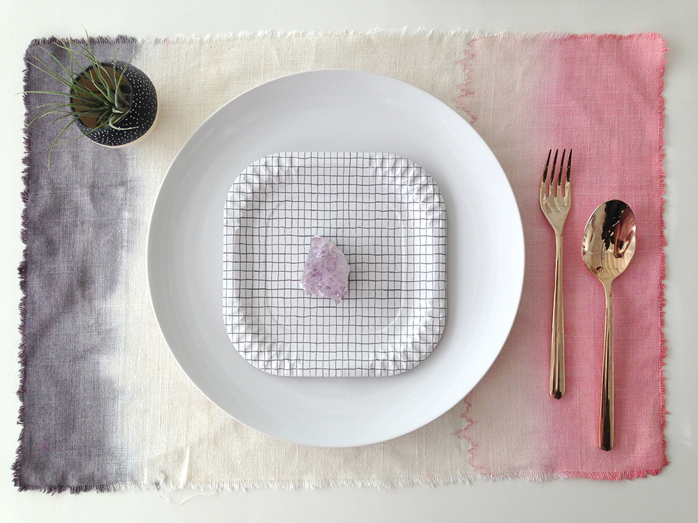 Dip Dye Placemat DIY for designlovefest | Bramble Workshop