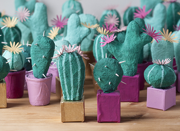 Paper Mache Cacti | Bramble Workshop