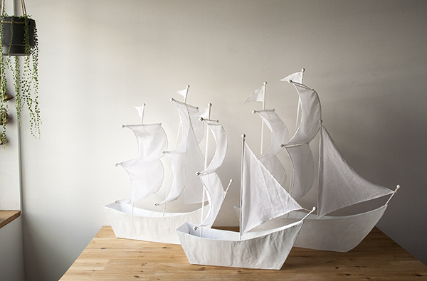 Paper Mache Ships | Bramble Workshop
