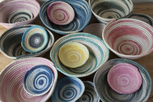 Hand-Dyed Rope Baskets by BW