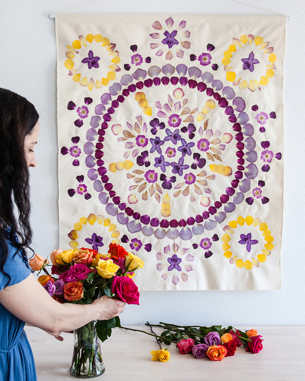Pressed Flower Wall Hanging | Bramble Workshop