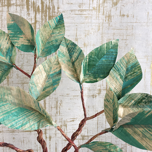 Bramble Workshop for LGM | Painted Tissue Leaves