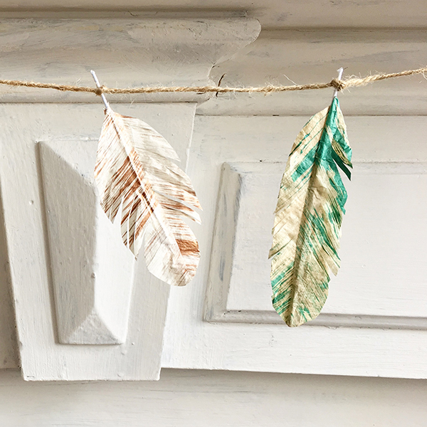 Bramble Workshop for LGM | Painted Tissue Feathers