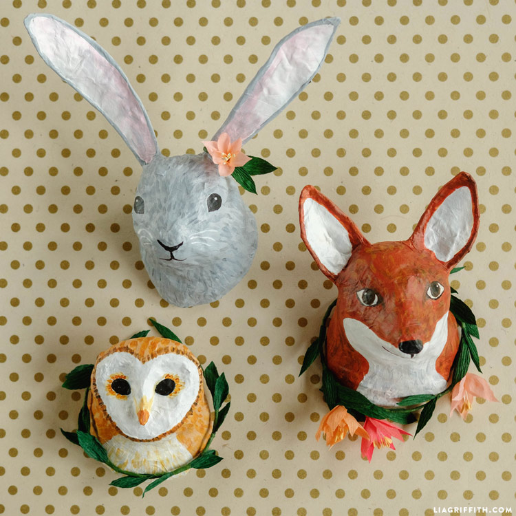 Bramble Workshop for LGM | Paper Mache Animal Heads