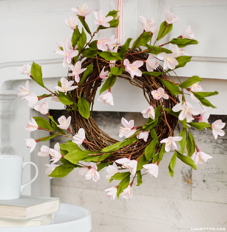 Bramble Workshop for LGM | Paper Plum Blossom Wreath